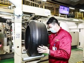Photos: A Tiremaker Resumes Production in China After COVID-19