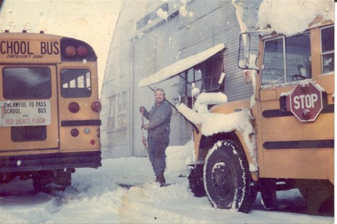 The Quonset hut, seen here in the snow, wasn't necessarily equipped to withstand the elements....