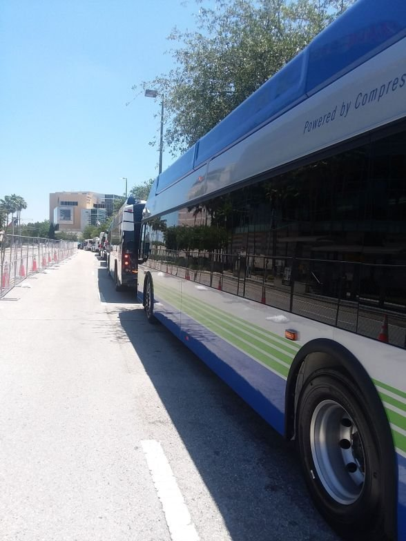 The APTA Bus & Paratransit Vehicle Showcase offered buses as far as the eye can see.