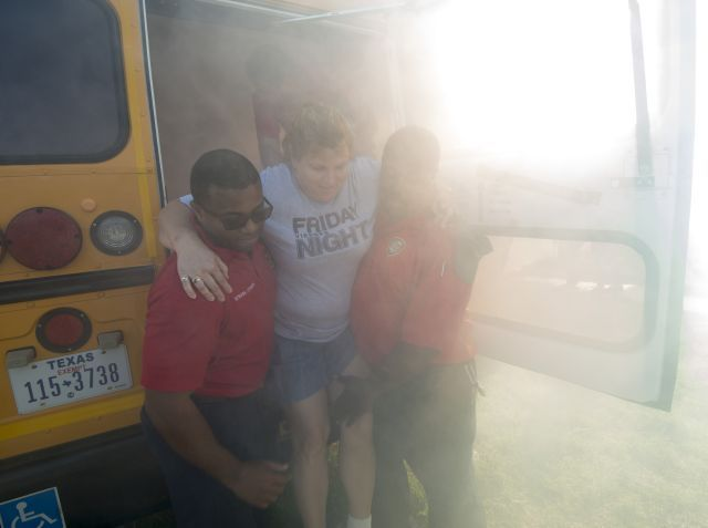 HISD drivers and attendants had to locate simulated children on board and then safely evacuate...