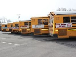 Tennessee law prohibits certain types of ads on school buses, such as those promoting alcohol or...