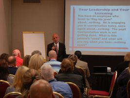 Dr. Cal LeMon spoke to a packed room about leadership and listening skills. He followed that...