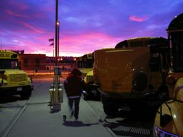 Dawn breaks over the fleet at Douglas County (Colo.) School District, where Horton has spent the...