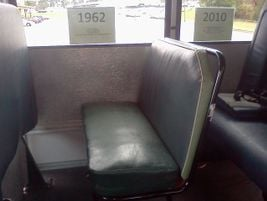 Here's a seat from 1962. North Carolina state pupil transportation director Derek Graham says...