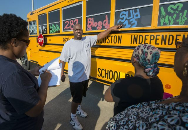 HISD Transportation Services partnered with the HISD Police Department Gang Task Force to train...