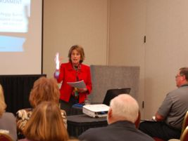 Legal expert Peggy Burns updated NAPT attendees on the topic of least restrictive environment....