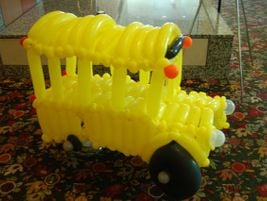 An impressive balloon sculpture of a school bus greeted NAPT attendees near the registration booth.