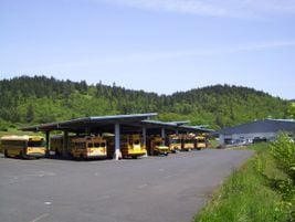 White Salmon runs its fleet of about 20 buses out of the facility. Susan Tibke took over as...