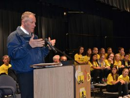 Hoffman noted that Elk Grove buses transport the district's students 2.7 million miles per year....