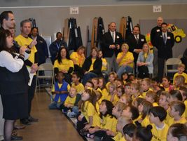 Elk Grove Director of Transportation Jill Gayaldo surprised the Cosumnes students by announcing...