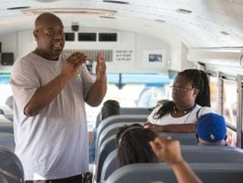 The HISD Safety Expo also included sessions on post-trip inspections, railroad crossing safety,...