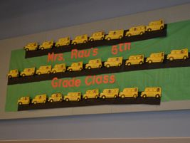 Another Love the Bus decoration in the Cosumnes multi-purpose room.