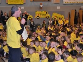 Cosumnes Principal Mike Gulden expressed his appreciation for school buses, and, like his...