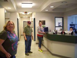 Here's the White Salmon transportation facility's lobby.