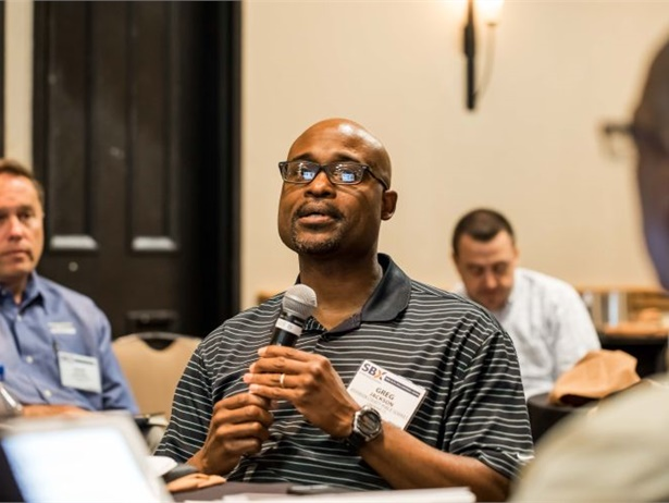 Greg Jackson of Jefferson County (Colo.) Public Schools discusses driver retention efforts during the 2018 School Bus eXchange (SBX), held in Scottsdale, Arizona, from April 16 to 18.