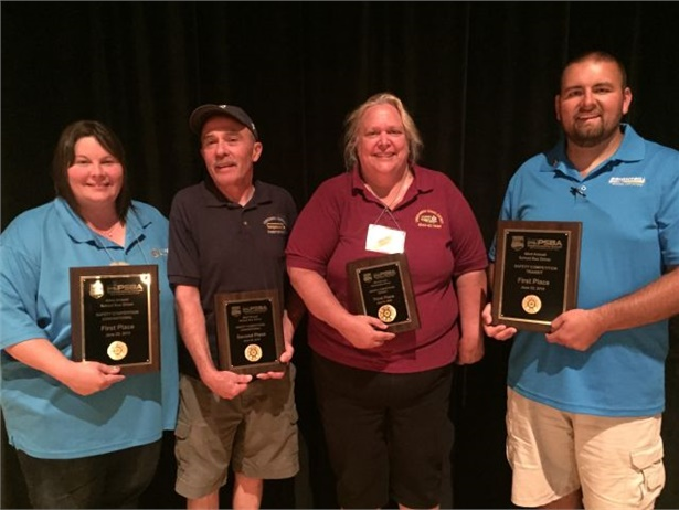 These four Pennsylvania school bus drivers advanced to the international competition. From left: Shanon O'Brien, Larry Hannon Sr., Beth McGowan, and Michael Webster.