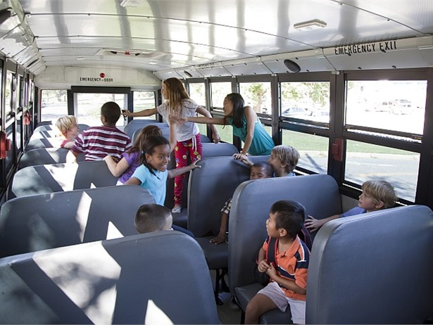 Incidents of election-related bullying in schools have been widely reported. Is an increase in training on behavior management on the bus needed in response? Photo courtesy NHTSA