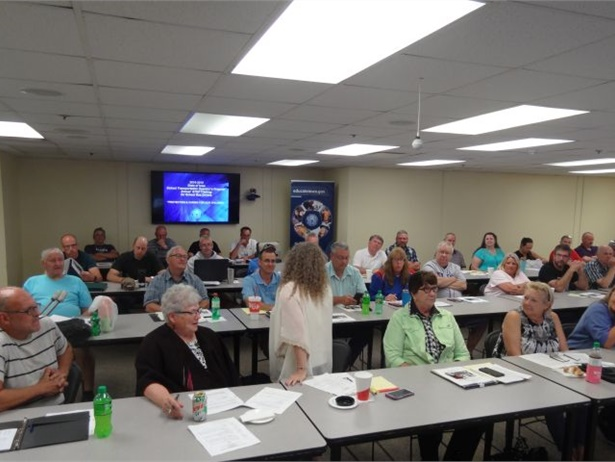 School bus driver trainers who were trained on the Busing on the Lookout program attended the Iowa Department of Education's Train the Trainer Day on June 28.
