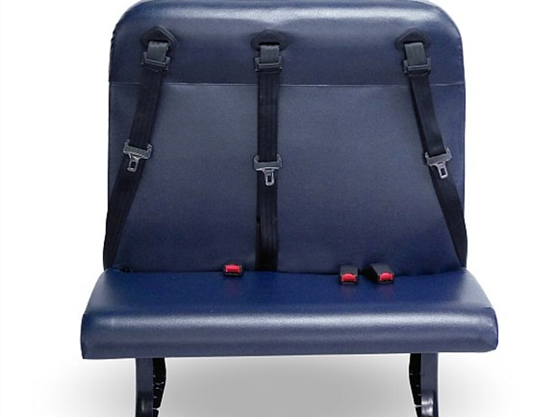 The convertible NextGen seat is designed to allow customers to change the seat back frame to have a three-point or child-restraint seat without having to purchase new seats for reinstallation into a bus.