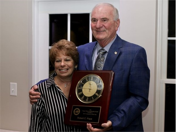 Robert Pape of Dell Transportation was named NYSBCA Contractor of the Year. He is seen here with his wife, Judy.