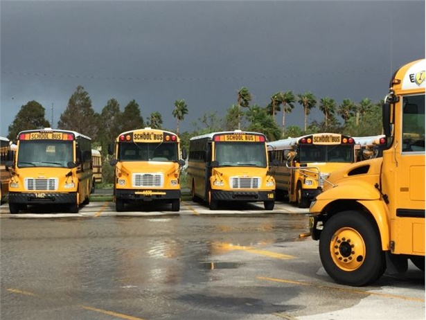 Brevard Public Schools' transportation team quickly secured 500 school buses to brace for the forecast 100 mph winds of Hurricane Irma.