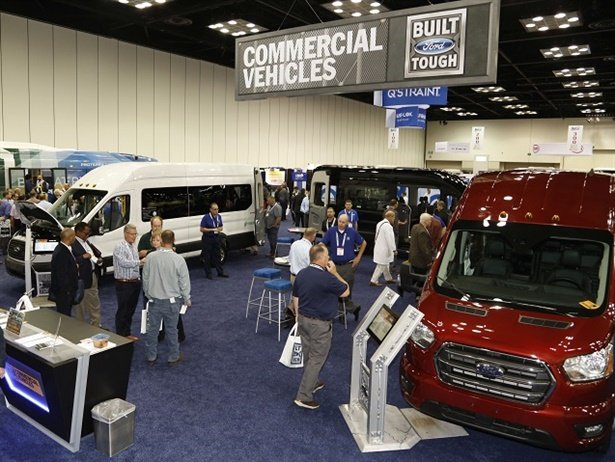 Two of Bobit Business Media's premier trade shows, BusCon and LCT East, will join forces in 2020 to create America's Bus and Coach Expo. Shown here are attendees at this year's BusCon. Photo courtesy METRO