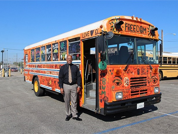Erick Richardson, Colton Joint Unified School District's transportation director, came up with the idea for the Kindness Bus. He had previously helped coordinate a similar program in another school district. Photos by Katie Orloff
