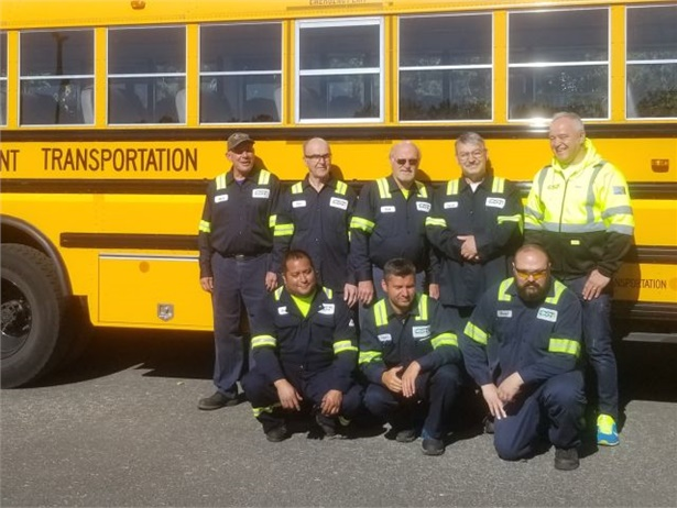 Cascade Student Transportation's shop crew in Battle Ground, Washington, was recognized for school bus inspection results.