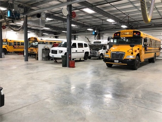 Central States Bus Sales' new facility includes a 15,000 square foot service bay area with 14 bays.