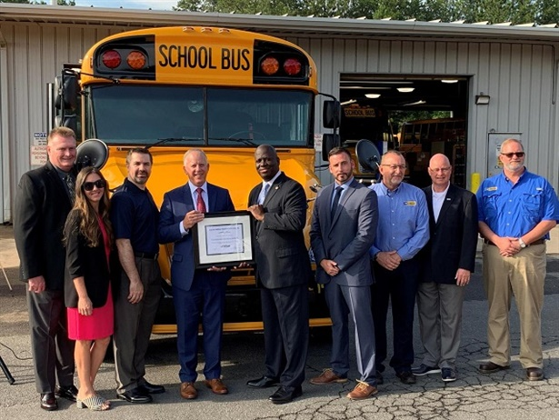 Charlotte-Mecklenburg Schools has added a total of 28 new Blue Bird Vision propane school buses to its fleet for the 2019-20 school year. Photo courtesy Charlotte-Mecklenburg Schools