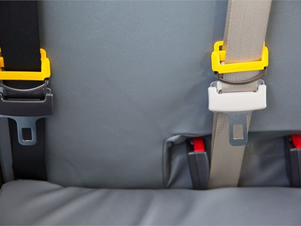 In Iowa, lap-shoulder belts will be required on all new school buses ordered as of Oct. 2. File photo courtesy Des Moines (Iowa) Public Schools