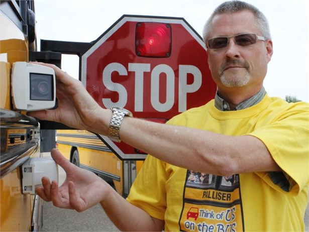 An article about school districts' successes with stop-arm cameras was the most-viewed feature on the SBF website this year.