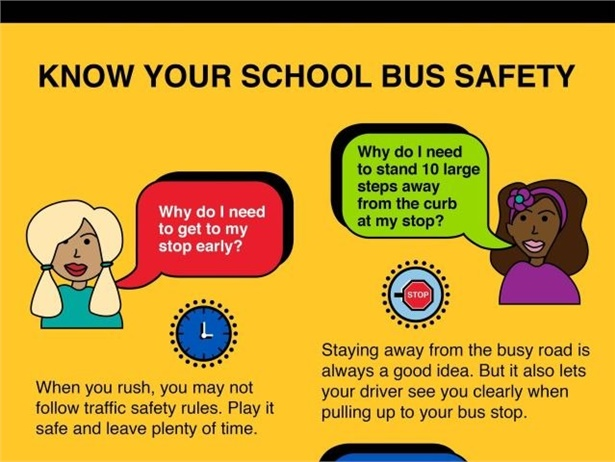 """Durham School Services has created """"Rollin' With Safety,"""" which gives students and parents school bus safety tips."""