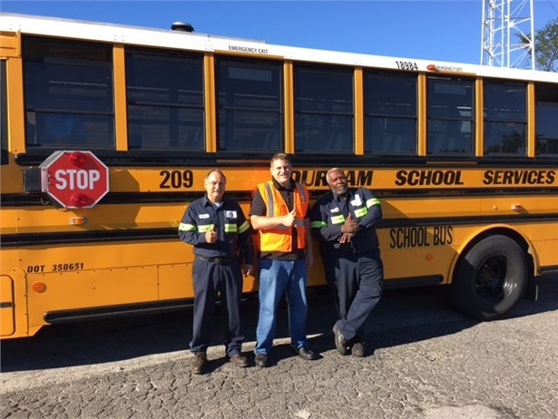 Zero violations were found in an inspection of Durham's fleet in Chester Township, Pennsylvania, which serves 68 schools.