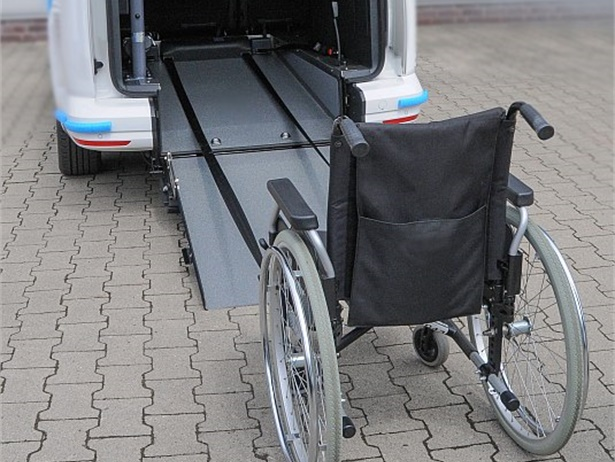 AMF-Bruns of America has developed Easypull, a winch system that pulls a wheelchair and passenger into a vehicle up a ramp. The automatic restraint system secures the wheelchair to the vehicle.