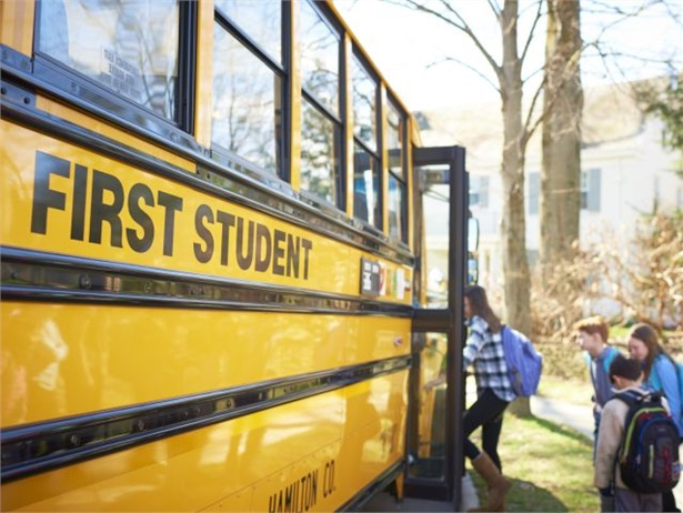 First Student operates more than 70 school bus routes for Lawrence Public Schools.