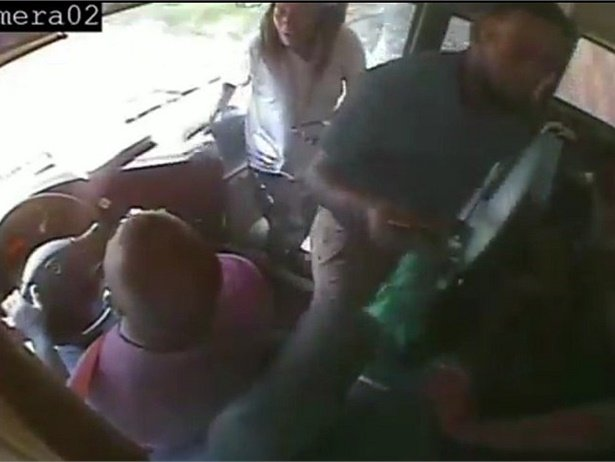 Bus surveillance video obtained by News4JAX shows the driver and aide's heroic actions. The driver drove to a safe place and gave information to a student who called 911, and the aide helped students.