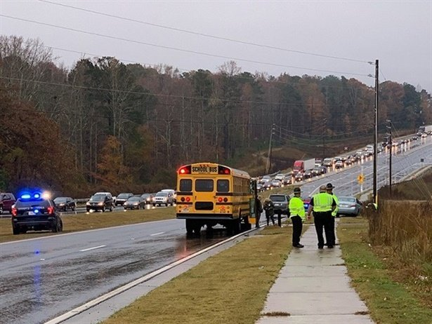 Christopher Frachiseur, 19, failed to stop for the stopped school bus, jumped the curb, and traveled to the right passenger side of the bus, hitting a man and two students from the same family. Photo courtesy Forsyth County Sheriff's Office