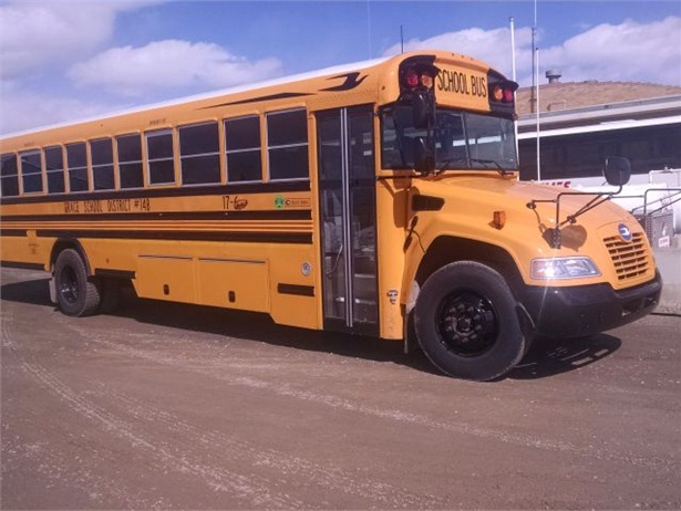 Grace School District's new Blue Bird Vision Propane bus is expected to lower operating costs while reducing environmental impact.