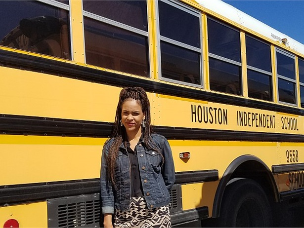 Houston ISD's Northwest Motor Pool Area Manager Terriel Price was able to use her CPR, first aid, and cardiopulmonary training, provided by the district's transportation department, to help a school bus driver who had stopped breathing.