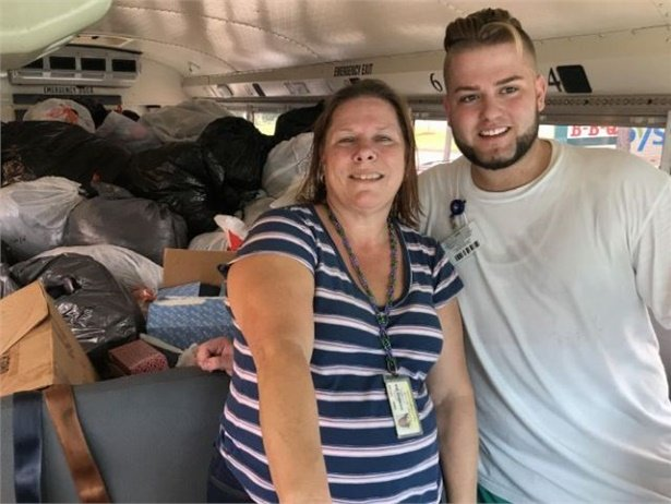 One of SBF's standout galleries in 2017 showed Texas school bus teams helping out when Hurricane Harvey hit.
