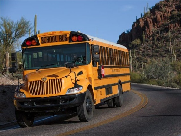IC Bus has developed a gasoline version of its CE school bus. Seen here is a diesel CE.