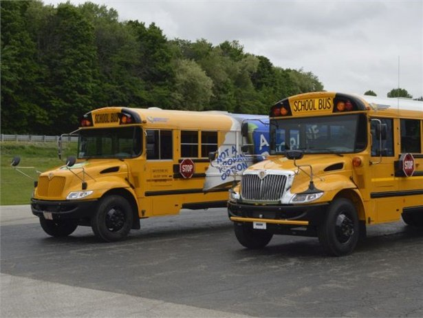 With the IC Bus Grant Program, school districts can qualify for $5,000 grants for new propane CE Series school buses (left).