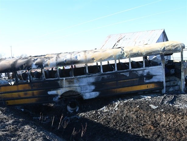 Riverside Community School District has agreed to a $4.8 million settlement with the family of a student who died in a 2017 school bus fire. Photo courtesy Pottawattamie County Sheriff's Office
