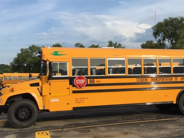 Kansas City (Mo.) Public Schools added 155 propane school buses to its fleet. Photo courtesy Blue Bird