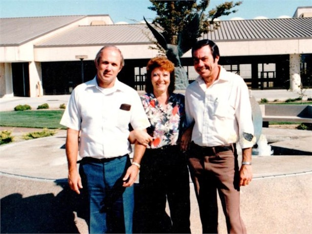 Larry Sherrill (right) was instrumental in the development of a behind-the-wheel guide for California's school bus drivers. He is seen here with school transportation veterans Gary Roberts and Nikki Hughes.