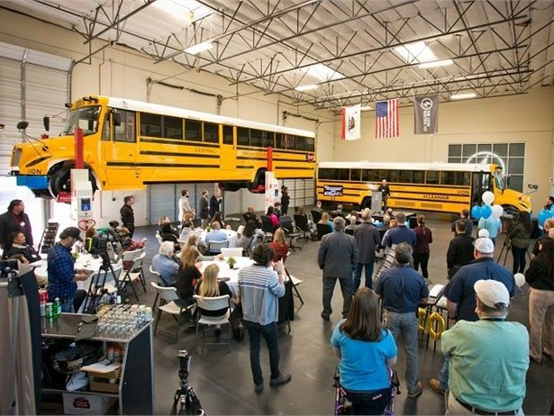 "The Lion Electric Co. opened a second educational facility, known as its ""Experience Center,"" in New York state. Shown here is the school bus manufacturer's California-based Experience Center. Photo courtesy The Lion Electric Co."