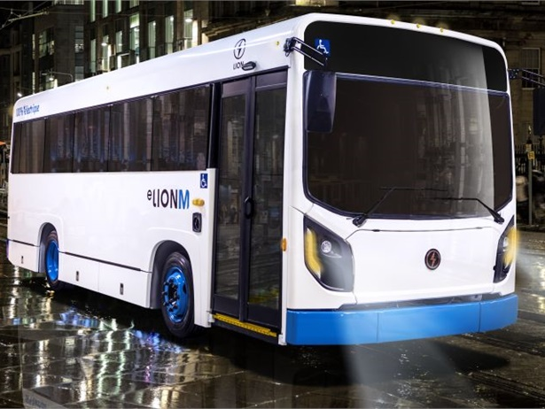 The Lion Electric Co. unveiled the eLionM, its new electric midi-minibus, in Montreal at Movin' On by Michelin, an annual international summit on sustainable mobility.