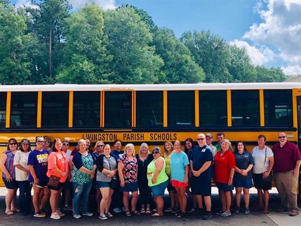A total of 22 new school buses were recently delivered to Livingston Parish Public Schools for the 2019-20 school year. Photo courtesy Livingston Parish Public Schools