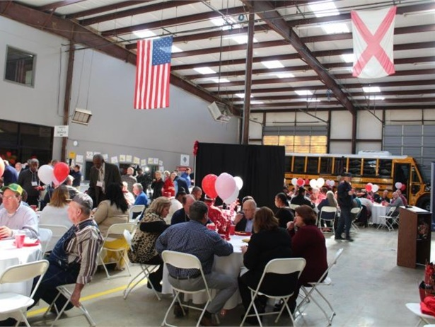"""Alabama-based school bus company Transportation South Inc. hosted its 10th annual """"Love the Bus"""" celebration on Feb. 13."""